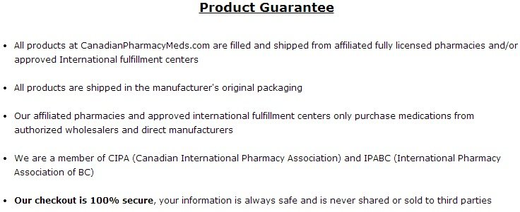 Canadian Pharmacy Meds Product Guarantee